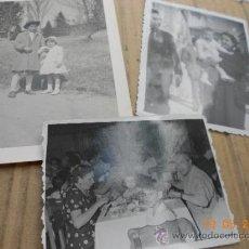 Fotografía antigua: LOTE DE 3 FOTOGRAFIAS ANTIGUAS . Lote 37458350