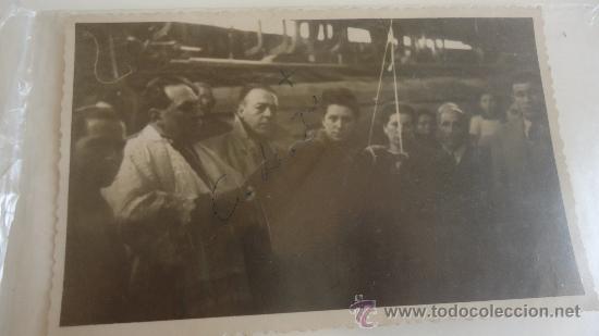 FOTOGRAFIA DE UNA INAUGURACIÓN BARCO, VIGO AÑO 1947 (Fotografía Antigua - Tarjeta Postal)