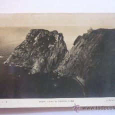 Fotografía antigua: DIFICILÍSIMA FOTO DEL FARO DE MUSEL. CABO DE TORRES. GIJÓN. FOTÓGRAFO L ROISÍN. CIRCULADA.. Lote 37467099