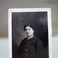 Fotografía antigua: FOTOGRAFIA ANTIGUA . TARJETA POSTAL. MUJER, ESTUDIO DERREY, VALENCIA. 1919. Lote 37620322