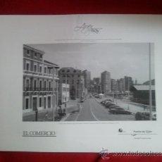 Fotografía antigua: 11 FOTOS DE GIJON (AYER Y HOY). Lote 37634259