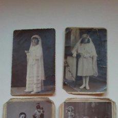 Fotografía antigua: LOTE FOTOGRAFIAS ANTIGUAS DE PRIMERA COMUNION AÑOS;30S . Lote 37786120