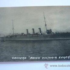 Fotografía antigua: FOTOGRAFÍA ORIGINAL CRUCERO REINA VICTORIA EUGENIA. S/C. Lote 37787496