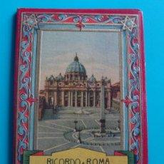 Fotografía antigua: LIBRO POSTAL RICORDO DI ROMA VEDUTE PARTE 1A, SERIE 601, EDIZIONI SCROCCHI - MILANO. Lote 38131503