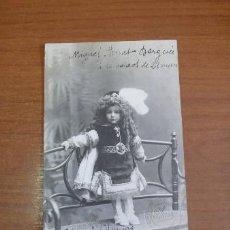 Fotografía antigua: FOTOPOSTAL RETRATO DE UN NIÑO. FOT. AMER, BARCELONA.. Lote 38708221