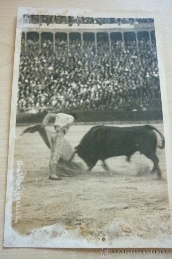 FOTOGRAFÍA TEMA TAURINO AÑOS 50. FOTÓGRAFO VIDAL CORELLO. VALENCIA (Fotografía Antigua - Tarjeta Postal)