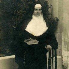Fotografía antigua: MONJA. F: SUÑÉ. SARRIÀ. BARCELONA. C. 1910. Lote 38938001