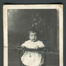 Fotografía antigua: BEBÉ. F: J. RENOM. MOIÀ. BARCELONA. C. 1910. Lote 38938021