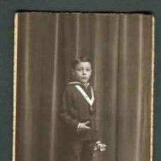 Fotografía antigua: NIÑO PRIMERA COMUNIÓN. F: GAMISSANS. BCN. C.1920. Lote 38939139