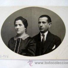 Fotografía antigua: ANTIGUA TARJETA : PAREJA. 1926. FOT. CERVERA, VALLADOLID. Lote 39016439