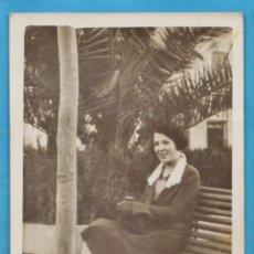 Fotografía antigua: POSTAL FOTOGRAFICA ++¿ LA RECONOCE ? ++ MARGARITA - PASEO ISABEL II (?) -SIN + DATOS -AÑOS 30 - . Lote 39133607