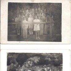Fotografía antigua: LOTES DE 2 TARJETAS POSTALES CON GRUPOS ESCOLARES POSANDO. FOTO VALLS ALEMANY. 1935 Y 1936. Lote 39325998