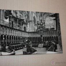 Fotografía antigua: TOLEDO CATEDRAL EL CORO-AÑO 1958 LUIS ARRIBAS TOLEDO. Lote 39628958