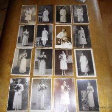 Fotografía antigua: GENIAL BELLO LOTE 16 FOTOGRAFIA ANTIGUA ORIGINAL MUJER NIÑA VESTIDO BLANCO PRINCIPIOS XX. Lote 39734793