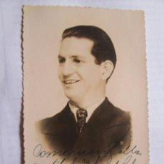 Fotografía antigua: FOTO DEDICADA. AUTOGRAPHED PHOTO. PHOTO DÉDICACÉE - A LUISA COLOMER DE ADOLFO 1936 - TEATRO, THEATE. Lote 39945165