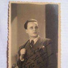 Fotografía antigua: FOTO DEDICADA. AUTOGRAPHED PHOTO. PHOTO DÉDICACÉE - A LUISA COLOMER DE ARTISTA ITALIA 1936 - TEATRO. Lote 39945179