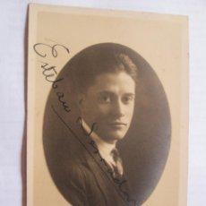 Fotografía antigua: FOTO DEDICADA. AUTOGRAPHED PHOTO. PHOTO DÉDICACÉE - ARTISTA 1924. Lote 39945187
