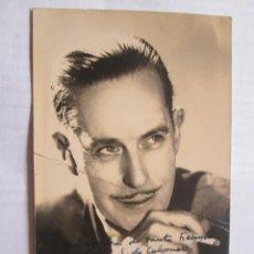 Fotografía antigua: AUTOGRAPHED PHOTO - FOTO DEDICADA. . PHOTO DÉDICACÉE - ARTISTA 1937. Lote 39945204