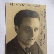 Fotografía antigua: AUTOGRAPHED PHOTO - FOTO DEDICADA. . PHOTO DÉDICACÉE - MAK GIANNI 1931 A LUISA DE COLOMER MONTEVIDEO. Lote 39945211