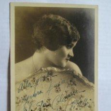 Fotografía antigua: MAFALDA VITELLI - PHOTO DÉDICACÉE - AUTOGRAPHED PHOTO - FOTO DEDICADA. A LUISA COLOMER 1931. Lote 39945315