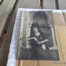 Fotografía antigua: FOTO TARJETA POSTAL MUJER CON MANTILLA. Lote 115539820