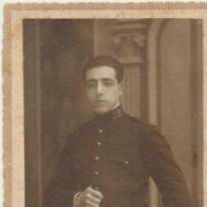 Fotografía antigua: FOTO- POSTAL. MILITAR. FOTOGRAFO CEPERO - ZARAGOZA. ANTERIOR A 1906.. Lote 40429973