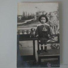 Fotografía antigua: TARJETA POSTAL-RETRATO DE NIÑO-. Lote 41082100