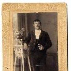 Fotografía antigua: FOTO J.JUDEZ - ZARAGOZA RETRATO SEÑOR TAMAÑO POSTAL ALARGADA. Lote 41112698