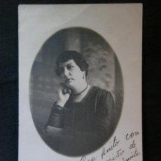 Fotografía antigua: TARJETA POSTAL FOTOGRAFÍA DEDICADA SEÑORA CUBANA HABANA JULIO 1916 FOTÓGRAFO NUÑEZ CUBA. Lote 41155613