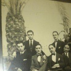 Fotografía antigua: ANTIGUA FOTOGRAFIA TARJETA POSTAL GRUPO ELEGANTES SEÑORES VALENCIA 1914. Lote 41289994