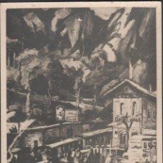 Fotografia antica: S0018 MONTSERRAT-2 - FOTO POSTAL DE LA LLEGADA DEL TREN CREMALLERA A LA MONTAÑA - 1932. Lote 41307270