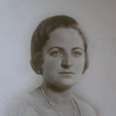 Fotografía antigua: TARJETA POSTAL FOTOGRAFÍA SEÑORA DEDICADA 2- 1- 1933 FOTÓGRAFO ARENAS. Lote 41375831