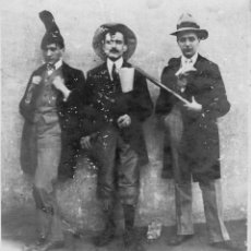 Fotografía antigua: FOTOGRAFIA PERSONAJES CARNAVAL 1930 ? POSIBLEMENTE ZONA DE SITGES CUBELLES. Lote 41426097