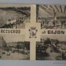 Fotografía antigua: POSTAL PLAYA SAN LORENZO -GIJON-ASTURIAS. Lote 41490527