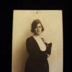 Fotografía antigua: TARJETA POSTAL CIRCULADA 1921 FOTÓGRAFO J.DERREY VALENCIA. Lote 41513289