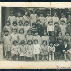 Fotografía antigua: POSTAL 1305 FOTO ANTIGUA COLEGIO INFANTIL FEMENINO ESCUELA NIÑAS GERONA GIRONA ARGEMIR. Lote 41710986