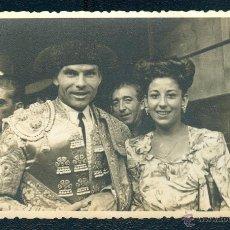 Fotografía antigua: POSTAL 1306 FOTO ANTIGU DOMINGO ORTEGA 24 09 1945 PLAZA DE TOROS GERONA GIRONA TORERO TORO. Lote 41711396