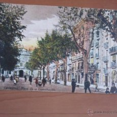 Fotografía antigua: POSTAL DE TARRAGONA COLOREADA DE FINALES XIX. Lote 42082734