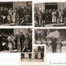 Fotografía antigua: VALENCIA. FALLAS DE 1944. FALLA MALDONADO EMBANY. 4 POSTALES FOTOGRÁFICAS + FOTO. Lote 42091586