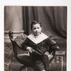 Fotografia antiga: POSTAL DE FOTOGRAFIA DE NIÑO PRIMERA COMUNION FOTOGRAFIA EN BLANCO Y NEGRO COMPRA MINIMA PARA ENVIAR. Lote 42519134