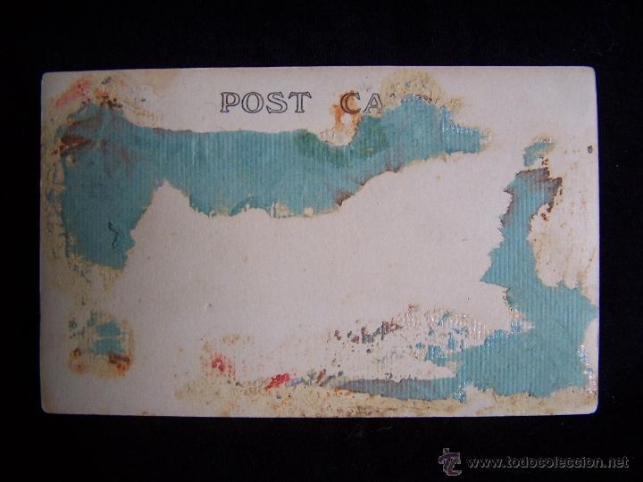 Fotografía antigua: Fotografía antigua retrato mujer con rosa tarjeta postal - Foto 2 - 42549489