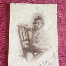 Fotografía antigua: NIÑO 1922 . Lote 42972964
