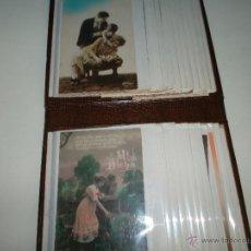 Fotografía antigua: ALBUN DE POSTALES ROMANTICAS DE LOS AÑOS 30 COLOREADAS. Lote 43307713
