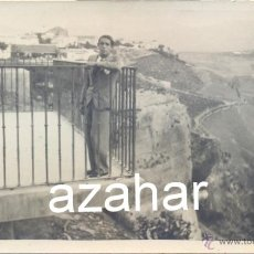 Fotografía antigua: RONDA, MALAGA, AÑOS 20, POSTAL FOTOGRAFICA, EL BALCON DEL COÑO, MAGNIFICA. Lote 43473207