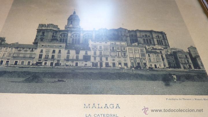 Fotografía antigua: FOTOGRAFÍA CATEDRAL DE MÁLAGA, FINALES SIGLO XIX, FIRMADA - Foto 2 - 43488063