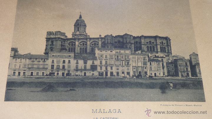 Fotografía antigua: FOTOGRAFÍA CATEDRAL DE MÁLAGA, FINALES SIGLO XIX, FIRMADA - Foto 7 - 43488063