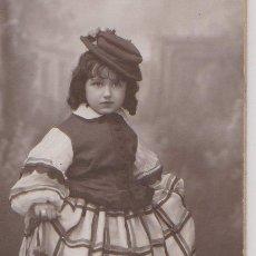 Fotografía antigua: FOTOGRAFIA NIÑA EN CARNAVAL, 1932. Lote 43555746