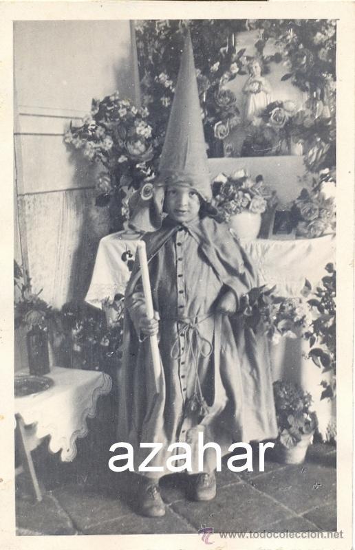 SEMANA SANTA DE SEVILLA, PRECIOSA POSTAL DE UN NAZARENITO, ANTIQUISIMA (Fotografía Antigua - Tarjeta Postal)