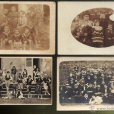 Fotografía antigua: LOTE DE 4 TARJETAS POSTALES FOTOGRAFIAS DE GRUPOS. Lote 44398364