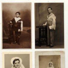 Fotografía antigua: LOTE DE 4 TARJETAS POSTALES FOTOGRAFIAS DE COMUNIONES. Lote 44398509